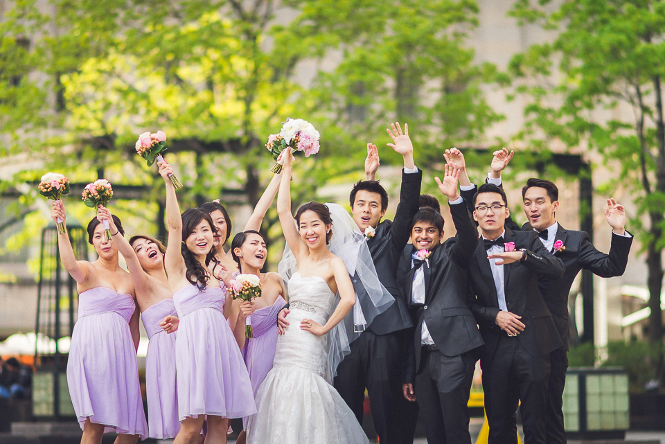 33 bridal party on michigan avenue - Michael + Haley // Chicago Wedding Photographer - Intercontinental Hotel