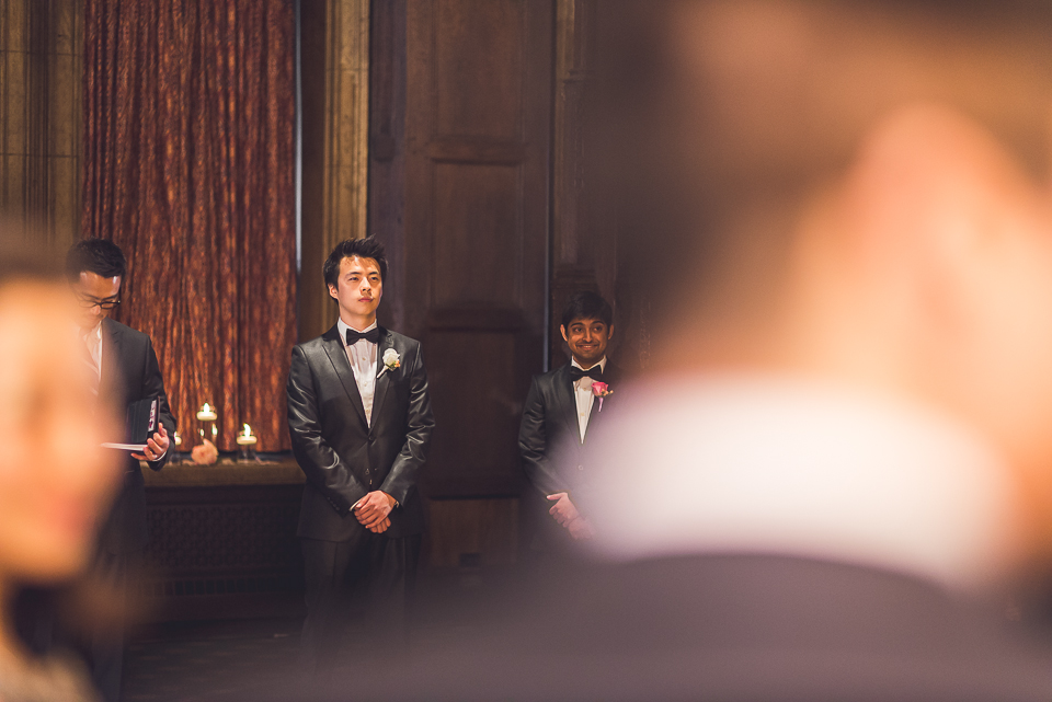 33 groom waiting - Michael + Haley // Chicago Wedding Photographer - Intercontinental Hotel