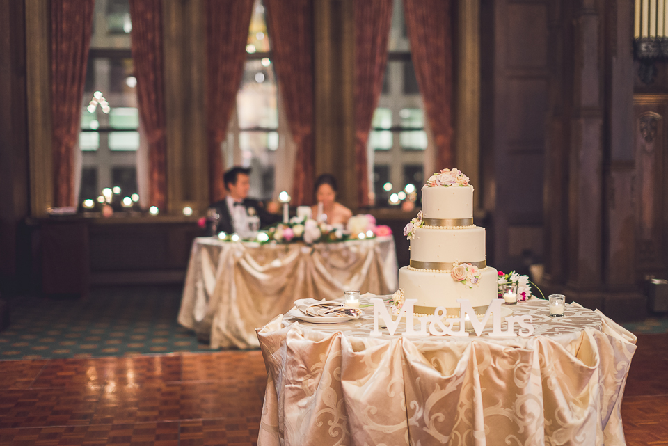 45 cake - Michael + Haley // Chicago Wedding Photographer - Intercontinental Hotel