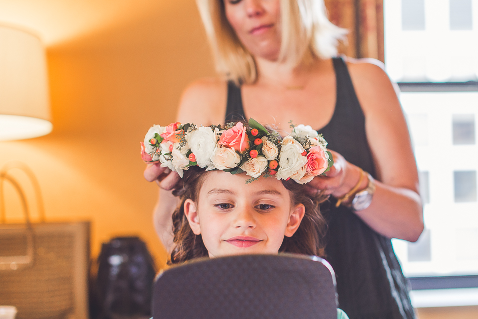 11 flower girl with flower crown