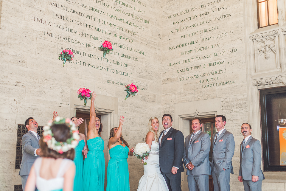 45 tossing flowers - Documentary Wedding Photographer in Chicago // Lynsey + Eric