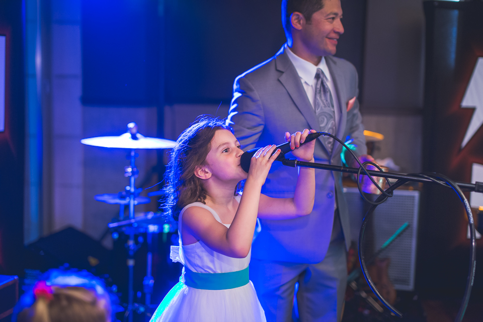 52 flower girl sings diring wedding reception