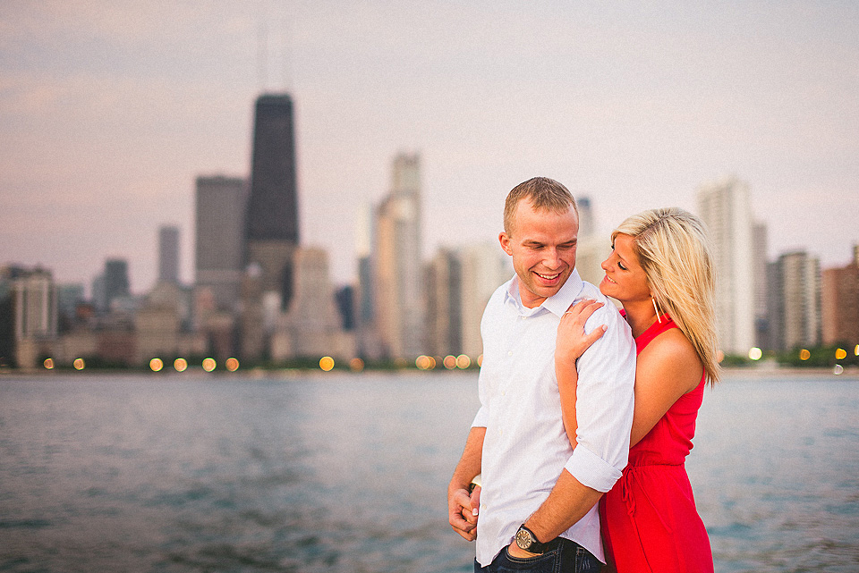 engagement on the beach in chicago