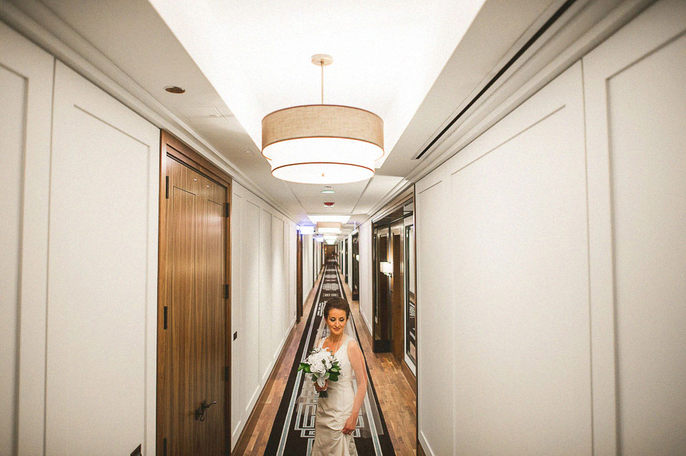 04 creative bridal portrait in chicago hotel - Downtown Chicago Wedding Photographer // Bart + Sanda
