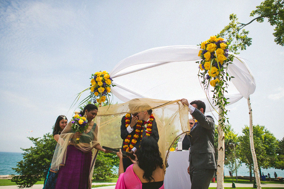 19 bengali mirror ceremony during chicago wedding - Chicago Wedding Photographers // Sal + David