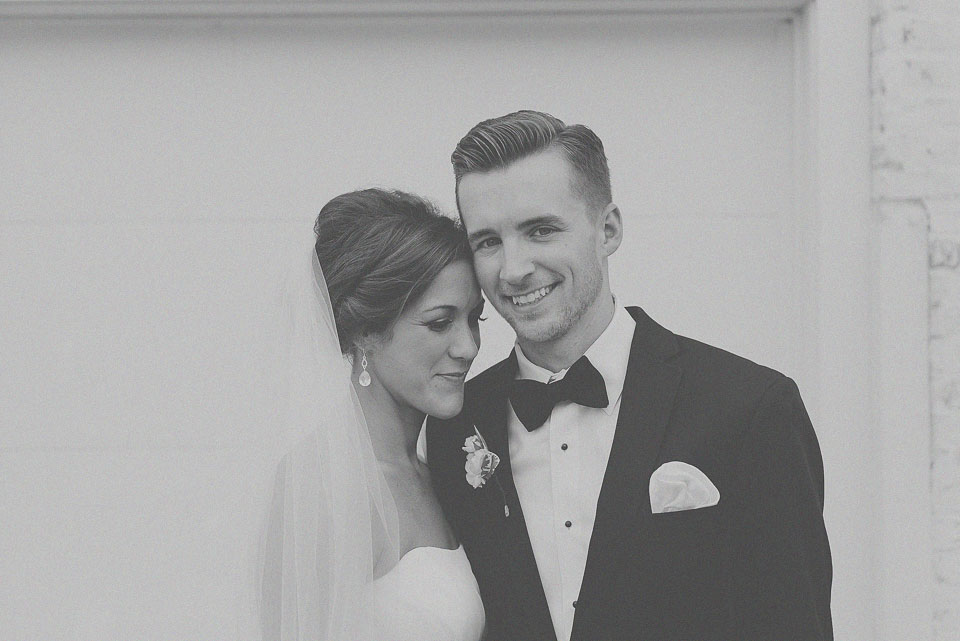 27 black and white portrait of bride and groom