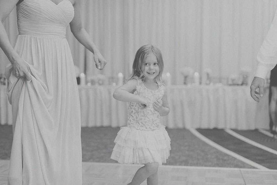 43 black and white kids at reception
