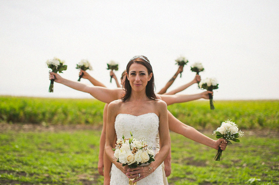artistic bridal party photos near NIU