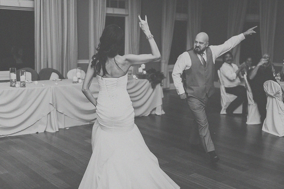44 black and white bride father dance
