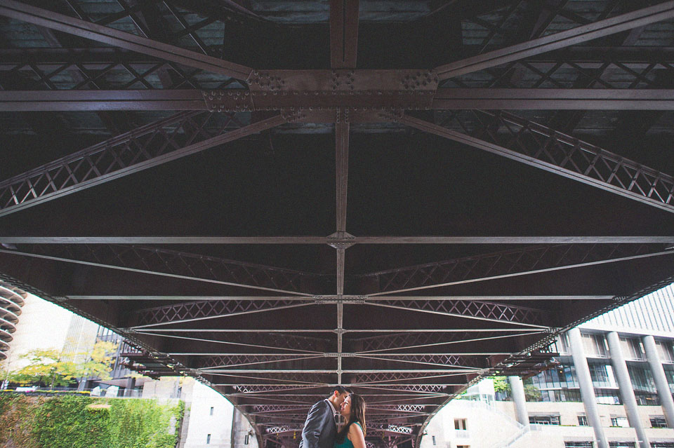 chicago bridges engagement photos