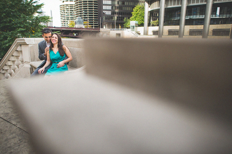 fun engagement photos in chicago
