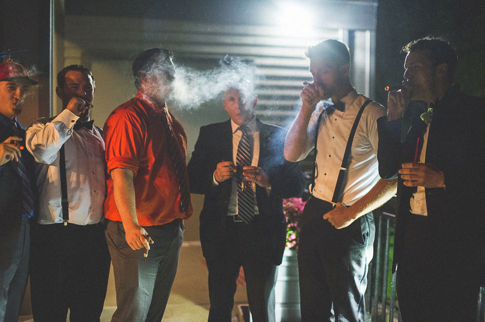 27 cigar smoke at wedding