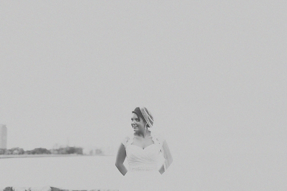 30 black and white portrait of bride in chicago