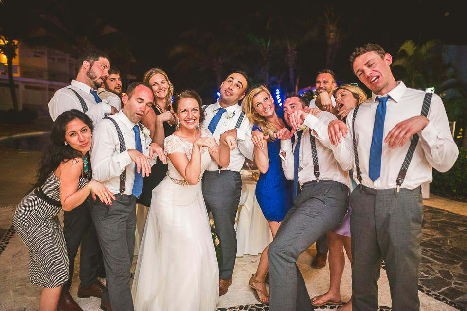 100 funny pose - Kindal + Mike's Cancun Mexico Wedding