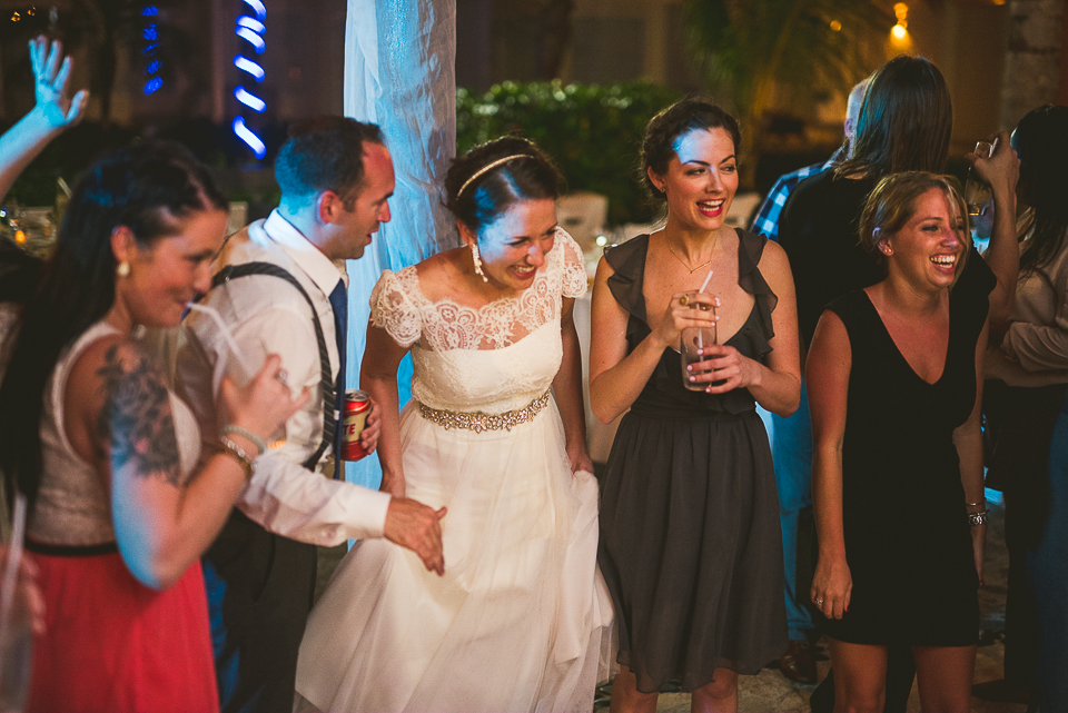 104 bride smiling - Kindal + Mike's Cancun Mexico Wedding