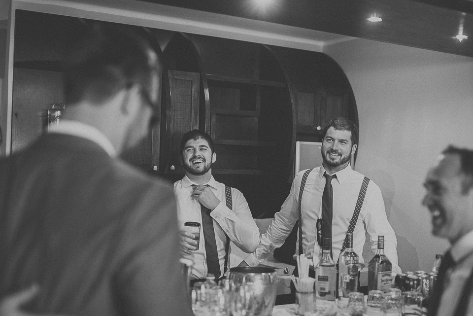 34 black and white of groomsmen