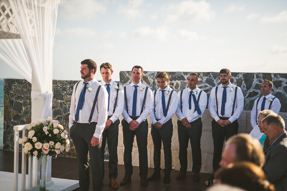 49 groomsmen - Kindal + Mike's Cancun Mexico Wedding