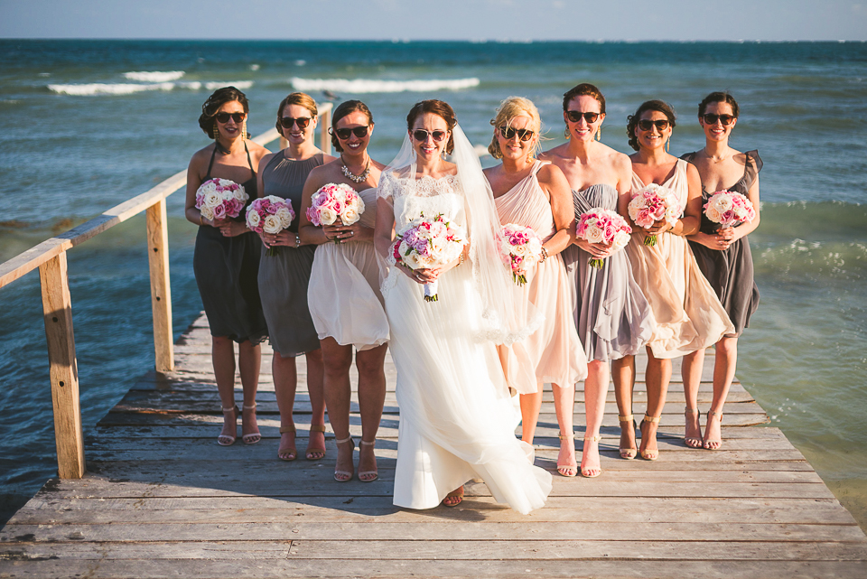 56 bride and bridesmaids