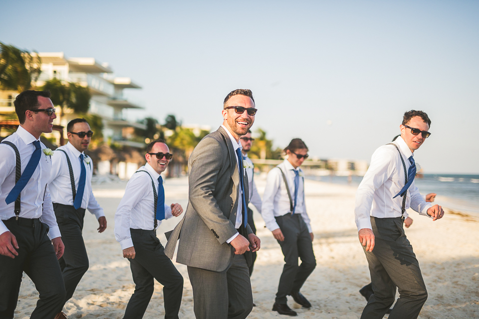60 groomsmen having fun