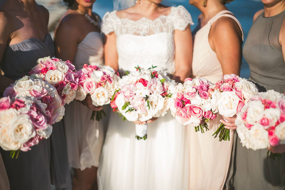 61 bridal flowers - Kindal + Mike's Cancun Mexico Wedding