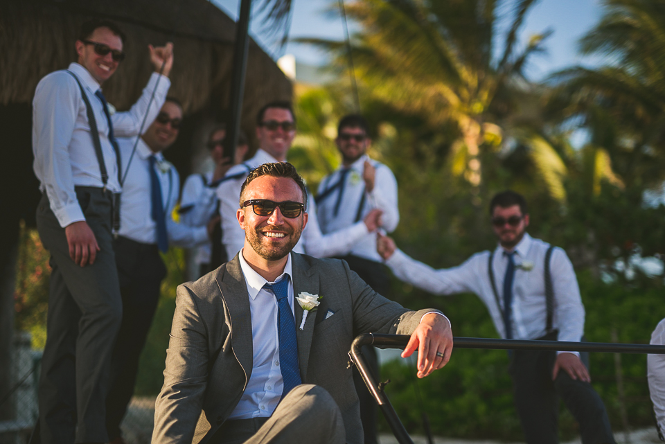 62 groom on a boat