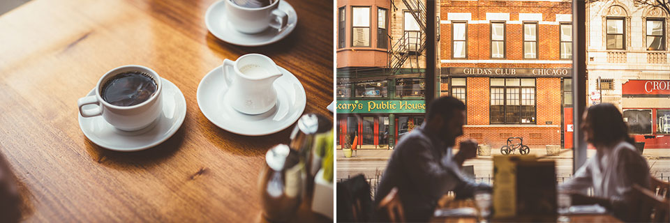 10 coffeeshop engagement photos