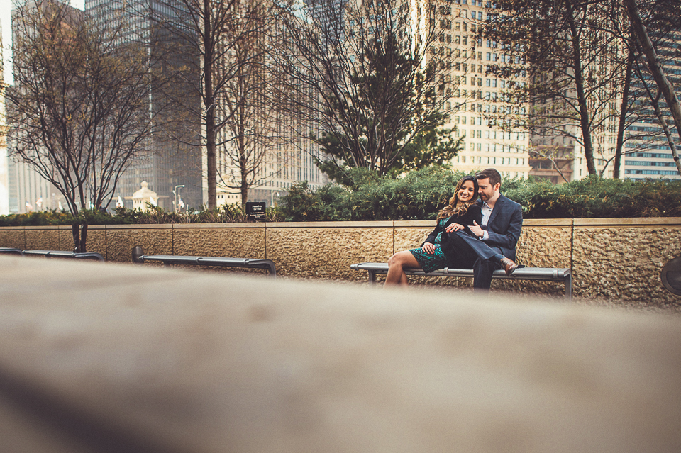 13 engagements in chicago - Downtown Chicago Engagement Photo Session // Erin + Tim