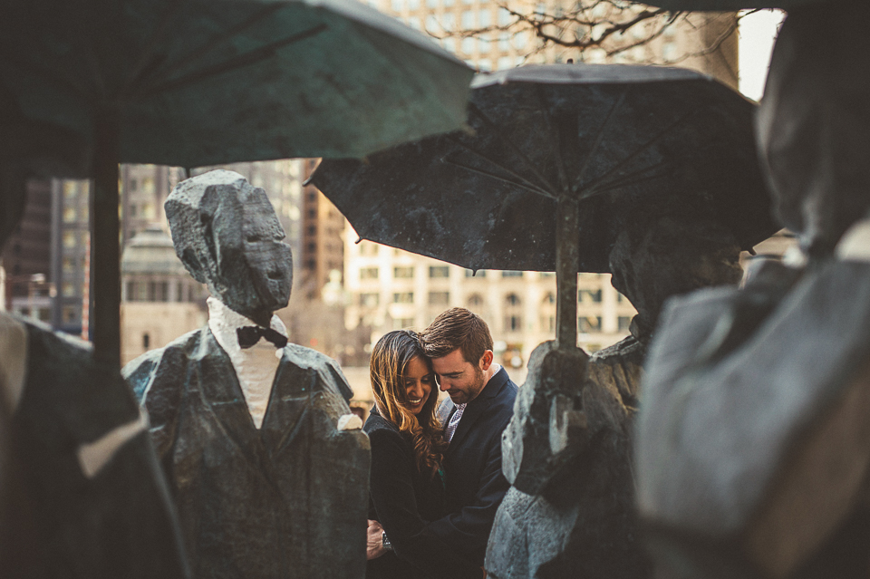 Downtown Chicago Engagement Photo Session // Erin + Tim