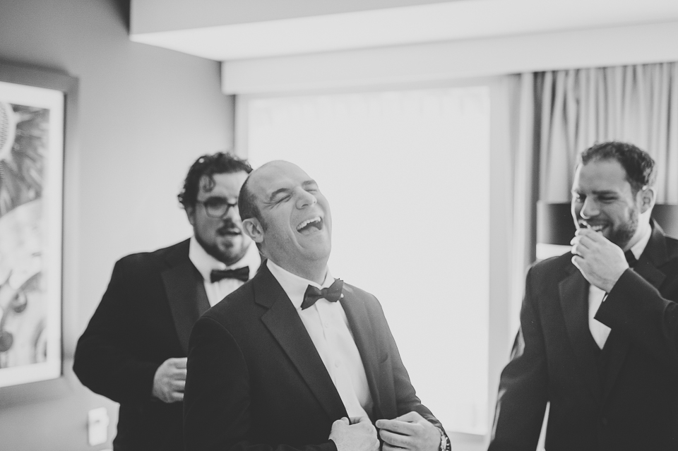 04 happy groom at his wedding - Pam + Vinny // Chicago Wedding Photographer