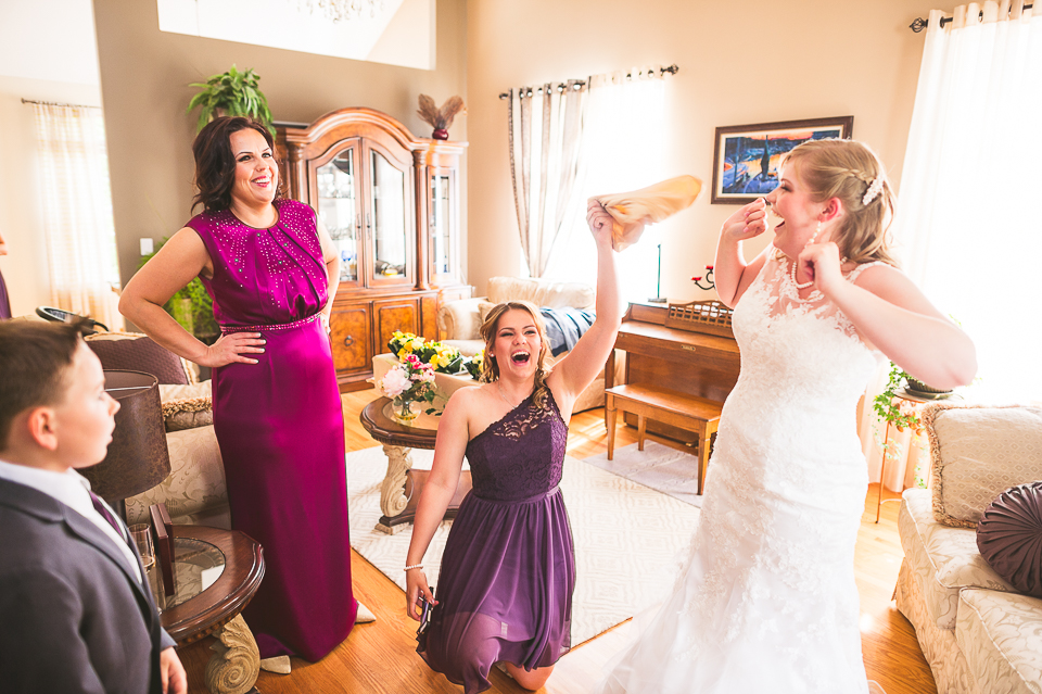 07 bride and sister being silly - Gintare + AJ // Chicago Wedding Photography
