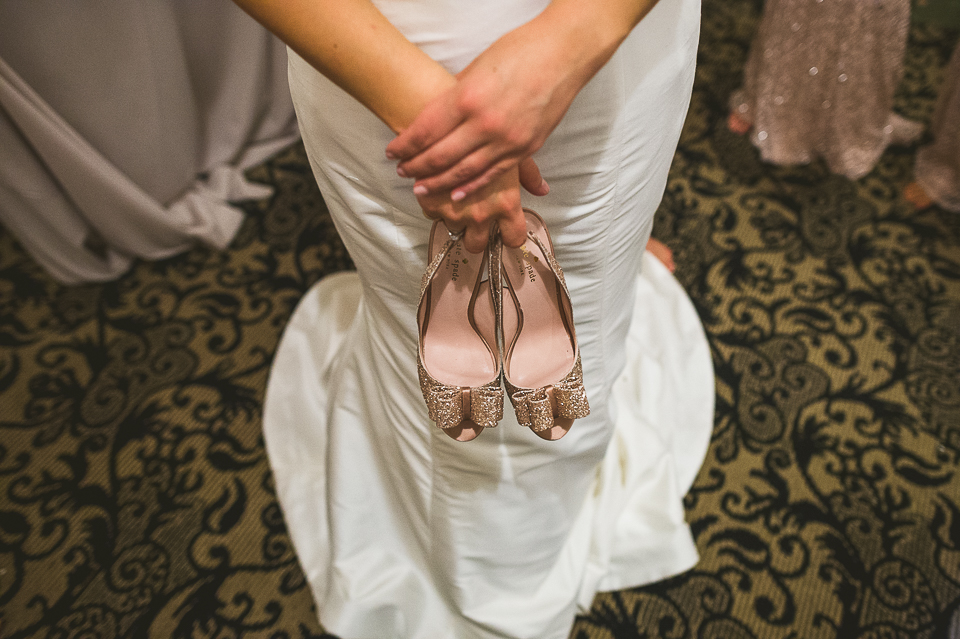 09 brides shoes - Pam + Vinny // Chicago Wedding Photographer