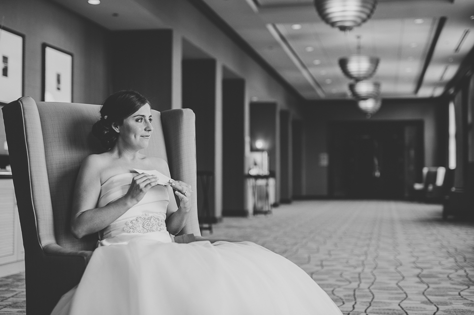 12 bride reading letter - Mandy + Brian // Chicago Wedding Photographer