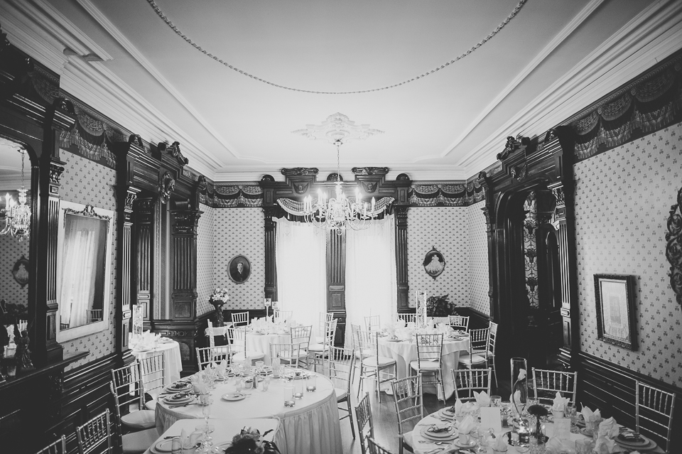 21 black and white jacob henry mansion - Gintare + AJ // Chicago Wedding Photography