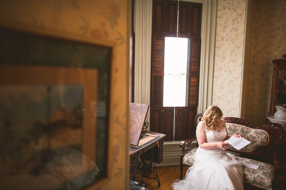 25 bride reading letter - Gintare + AJ // Chicago Wedding Photography