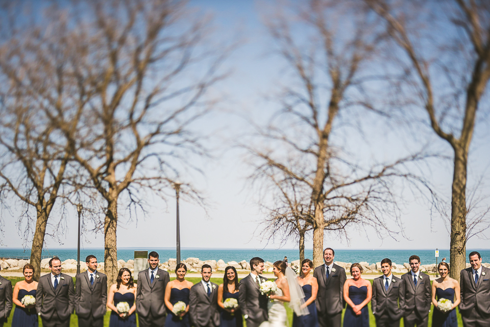 26 tilt shift bridal party - Mandy + Brian // Chicago Wedding Photographer