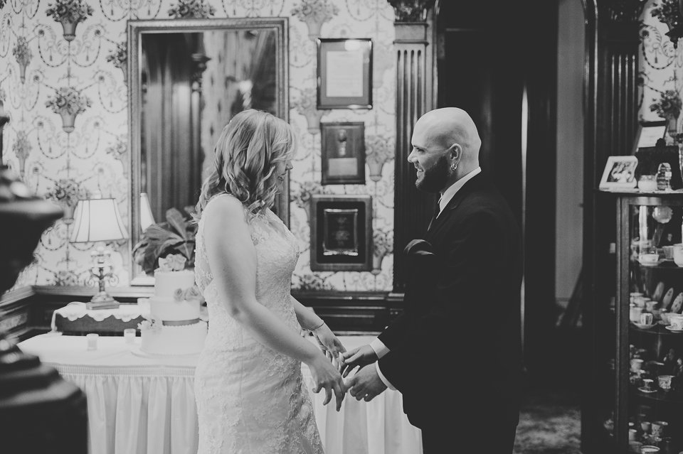 28 black and white first look - Gintare + AJ // Chicago Wedding Photography