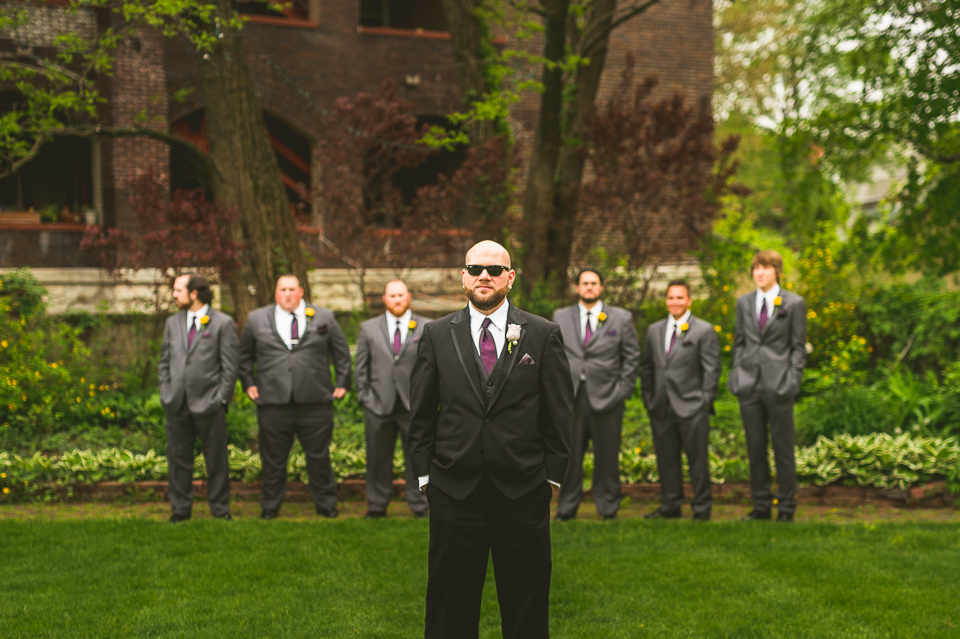 30 bridal party groomsmen - Gintare + AJ // Chicago Wedding Photography