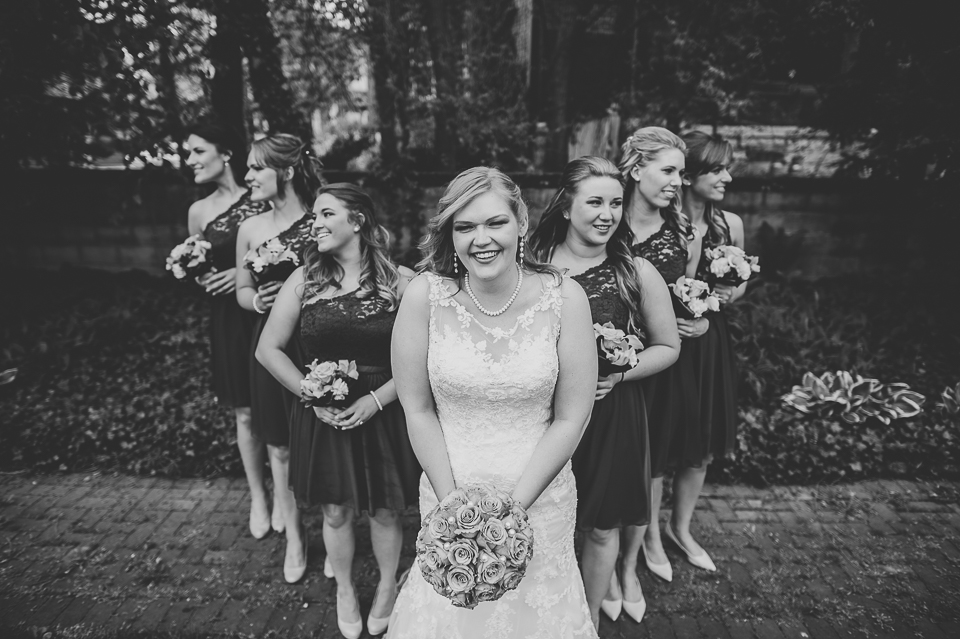 31 black and white bridal party portraits - Gintare + AJ // Chicago Wedding Photography
