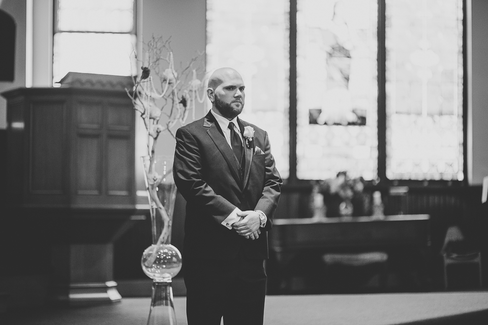35 groom waiting - Gintare + AJ // Chicago Wedding Photography