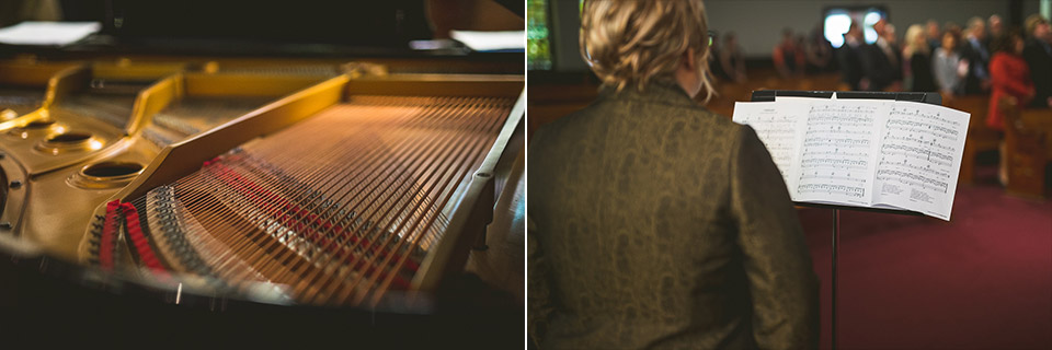37 church singing - Gintare + AJ // Chicago Wedding Photography