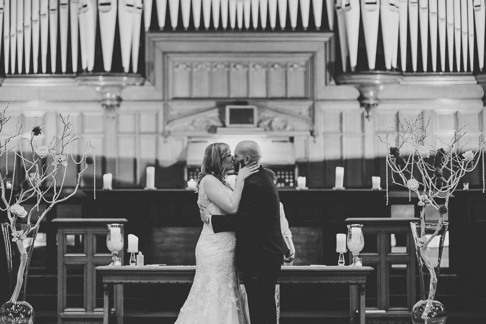 39 first kiss - Gintare + AJ // Chicago Wedding Photography