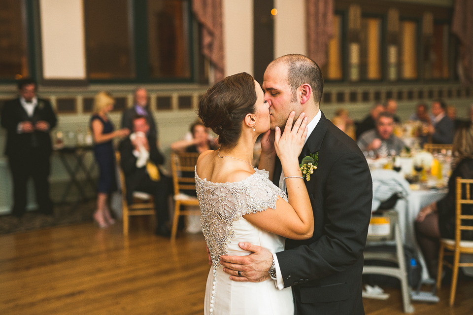40 bride and groom first dance - Pam + Vinny // Chicago Wedding Photographer