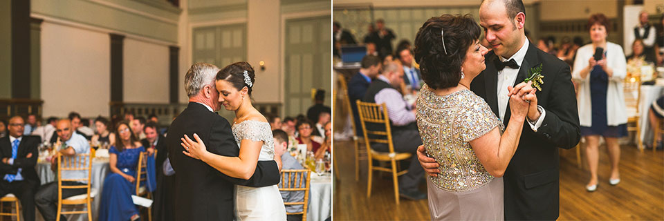 41 bride groom dance with parents - Pam + Vinny // Chicago Wedding Photographer