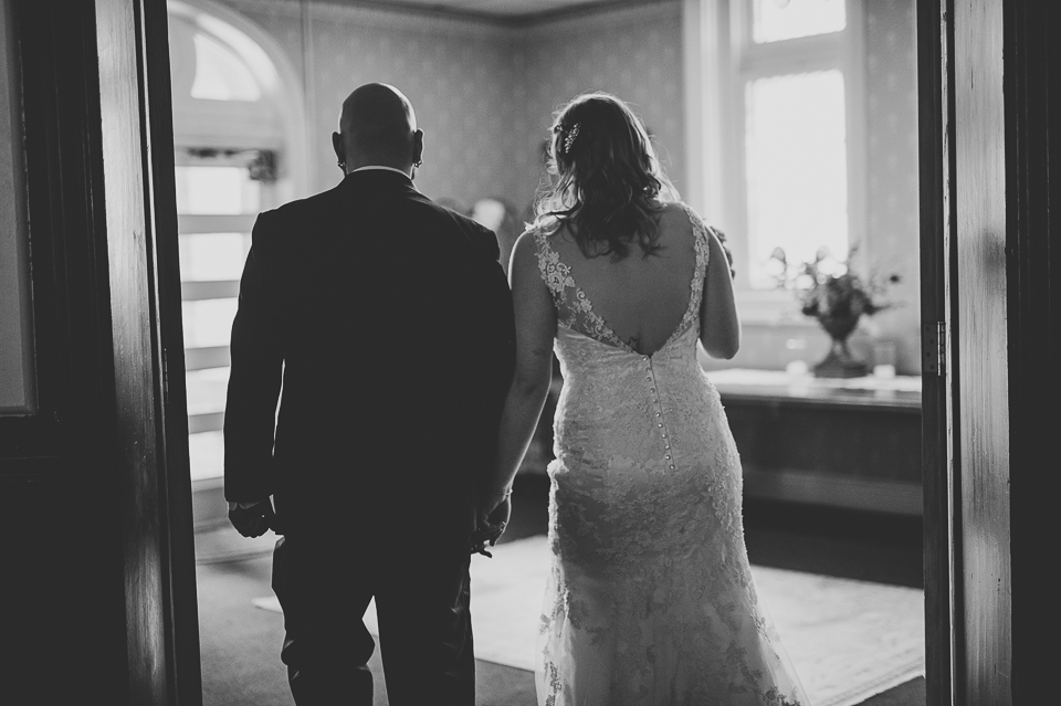 42 black and white married - Gintare + AJ // Chicago Wedding Photography
