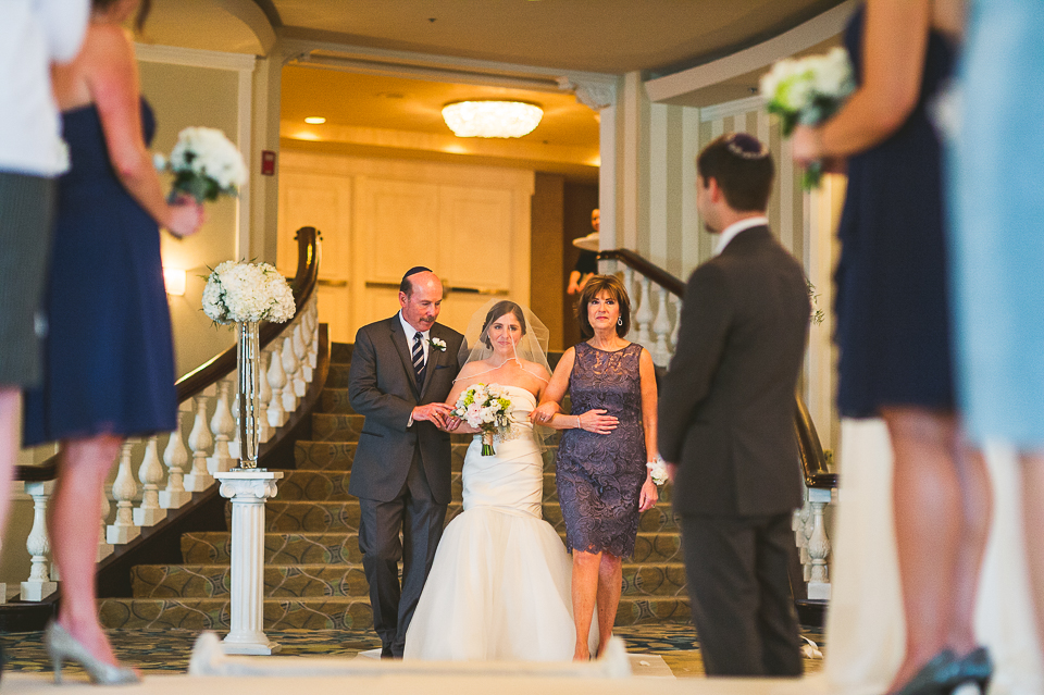 43 bride escored by parents - Mandy + Brian // Chicago Wedding Photographer