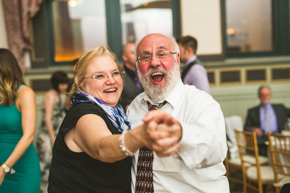 49 happy couple dancing - Pam + Vinny // Chicago Wedding Photographer