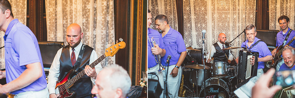 73 groom on the drums and bass - Gintare + AJ // Chicago Wedding Photography