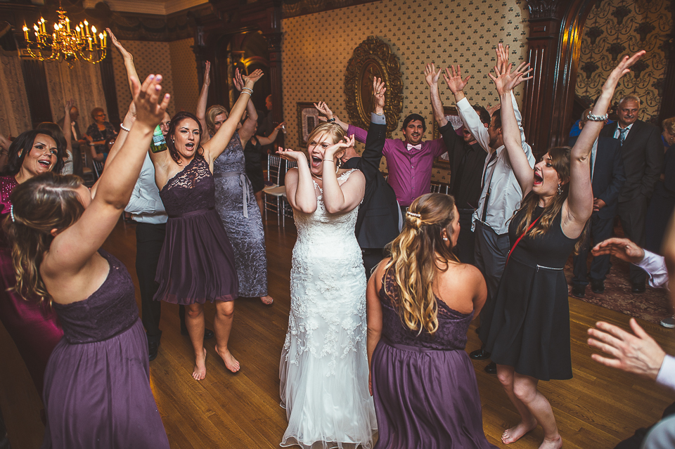 78 doing the ymca - Gintare + AJ // Chicago Wedding Photography