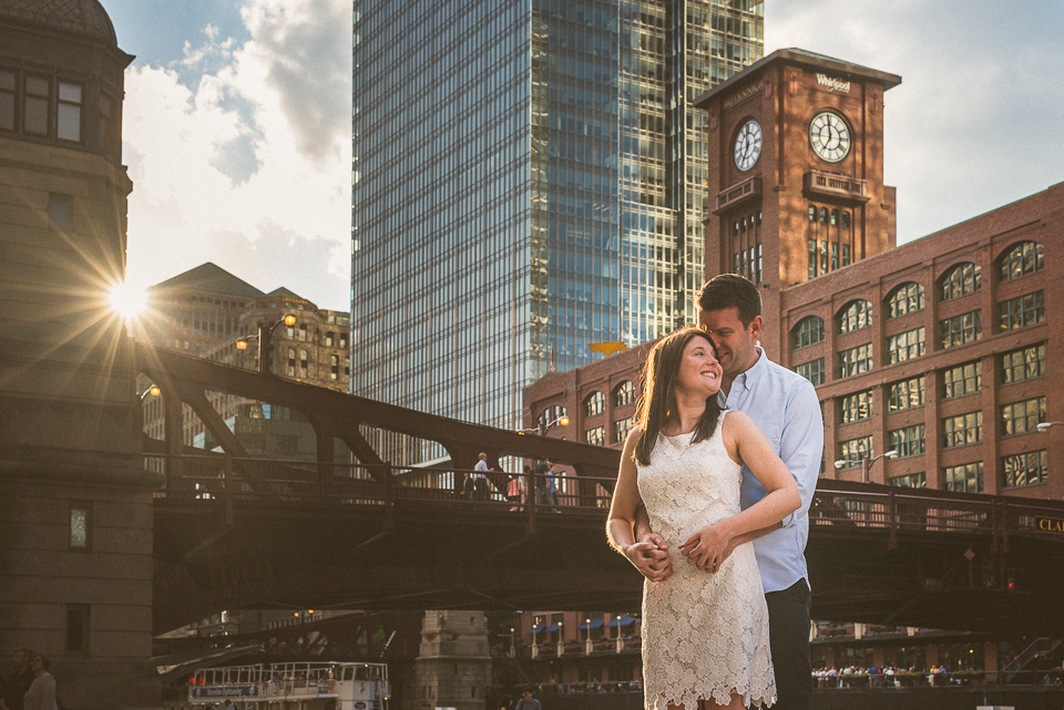 River North Engagement Session in Chicago // Heather + Mick