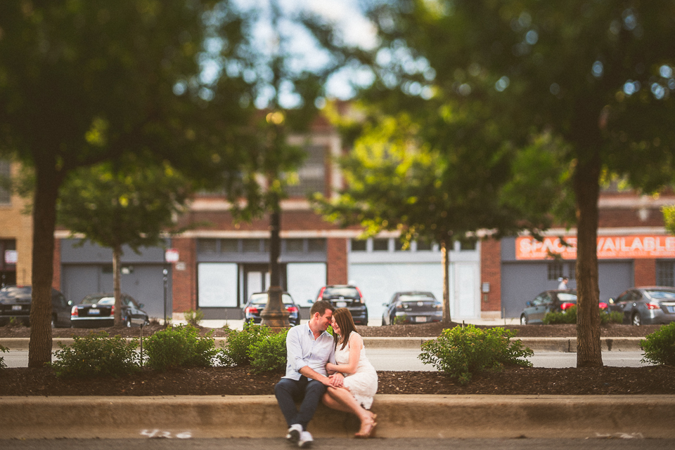 06 creative engagement photos - River North Engagement Session in Chicago // Heather + Mick